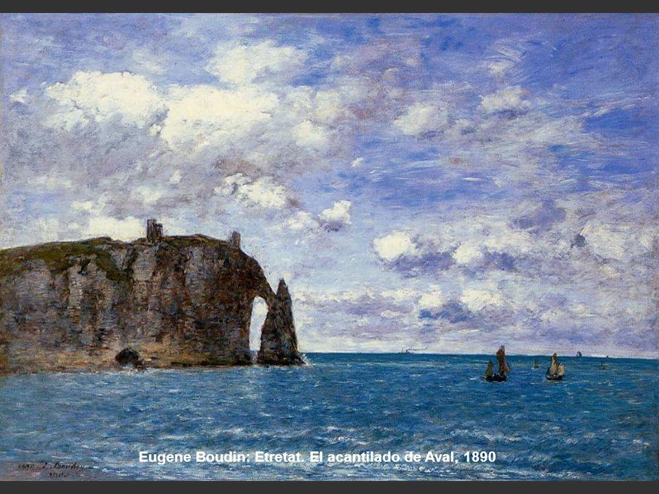 Eugene Boudin: Etretat. El acantilado de Aval, 1890