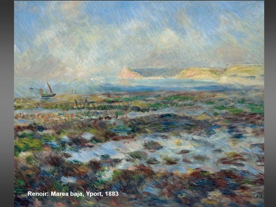 Renoir: Marea baja, Yport, 1883