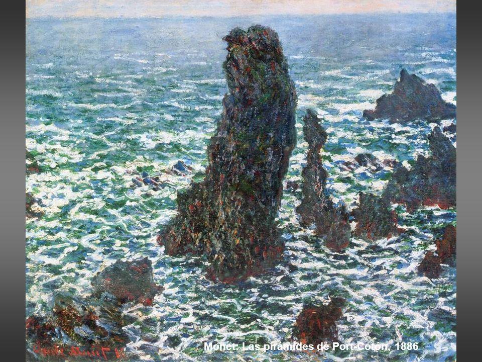 Monet: Las pirámides de Port-Cotón, 1886