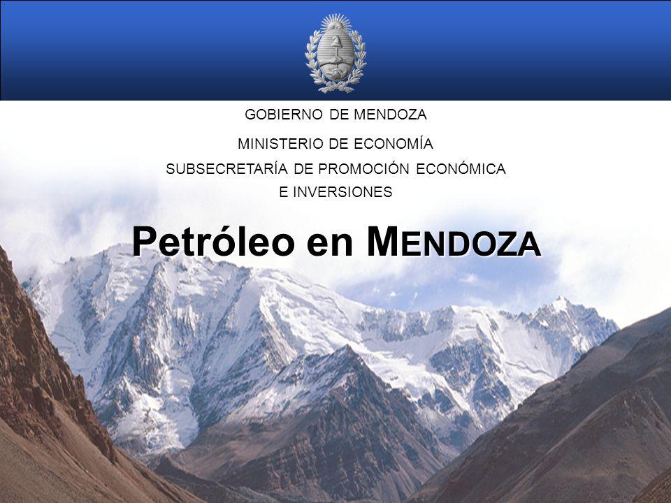 Petróleo en MENDOZA GOBIERNO DE MENDOZA MINISTERIO DE ECONOMÍA