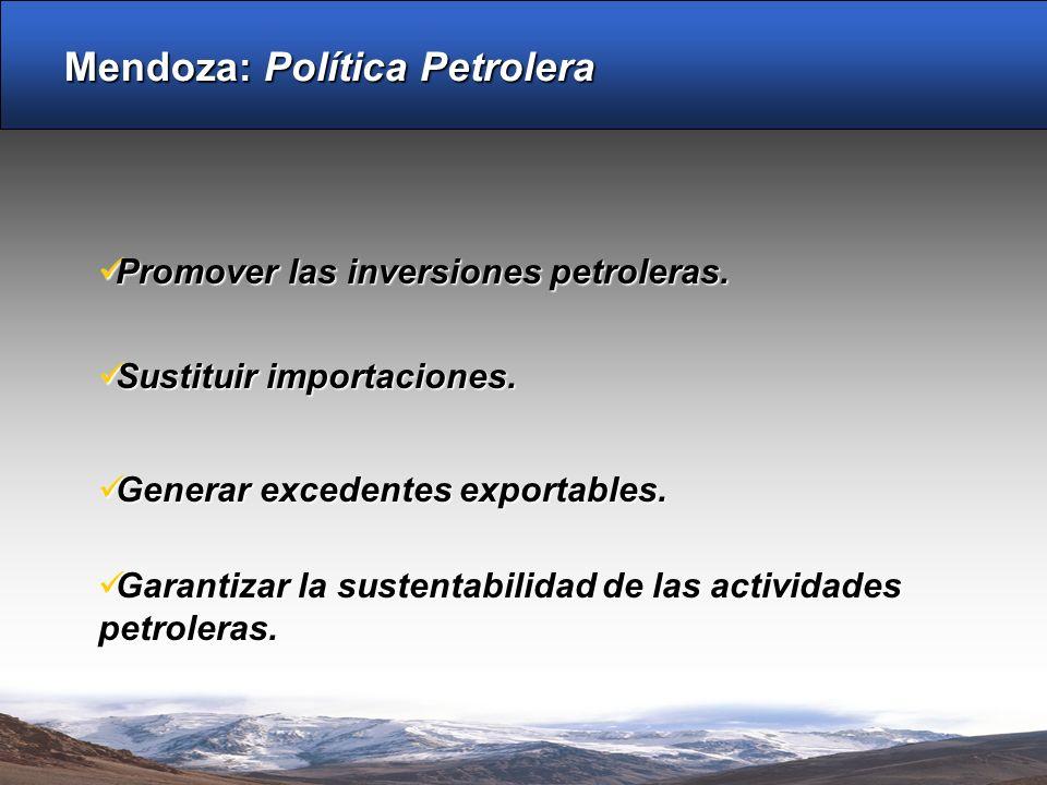 Mendoza: Política Petrolera