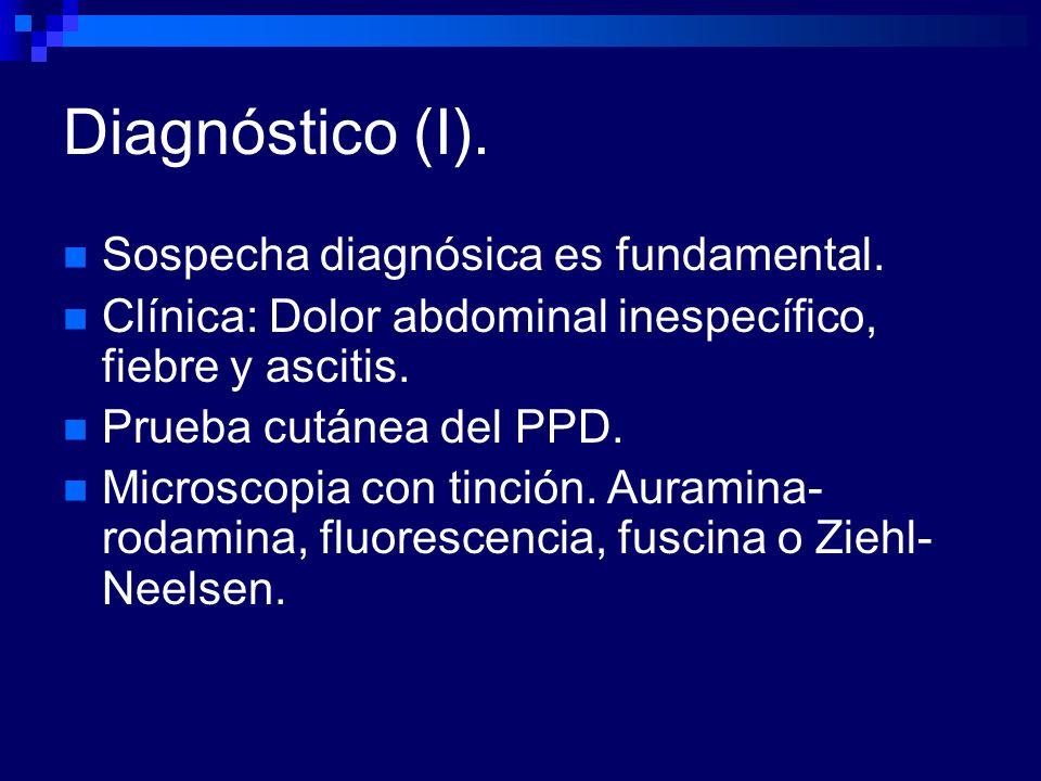 Diagnóstico (I). Sospecha diagnósica es fundamental.