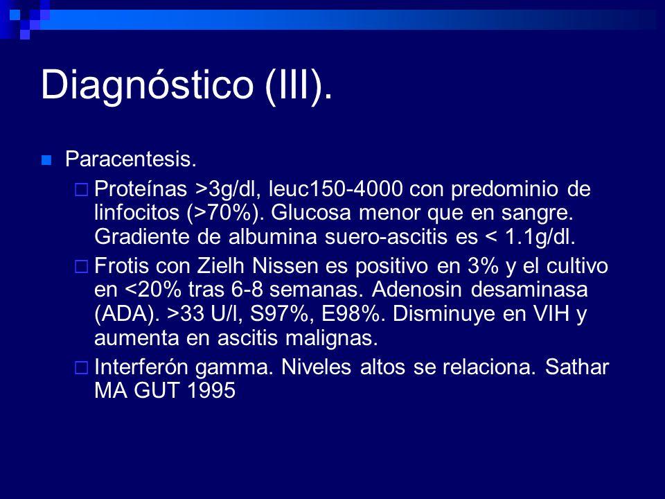 Diagnóstico (III). Paracentesis.