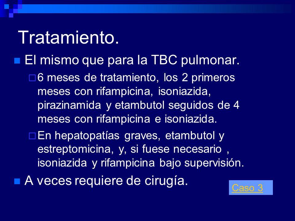 Tratamiento. El mismo que para la TBC pulmonar.