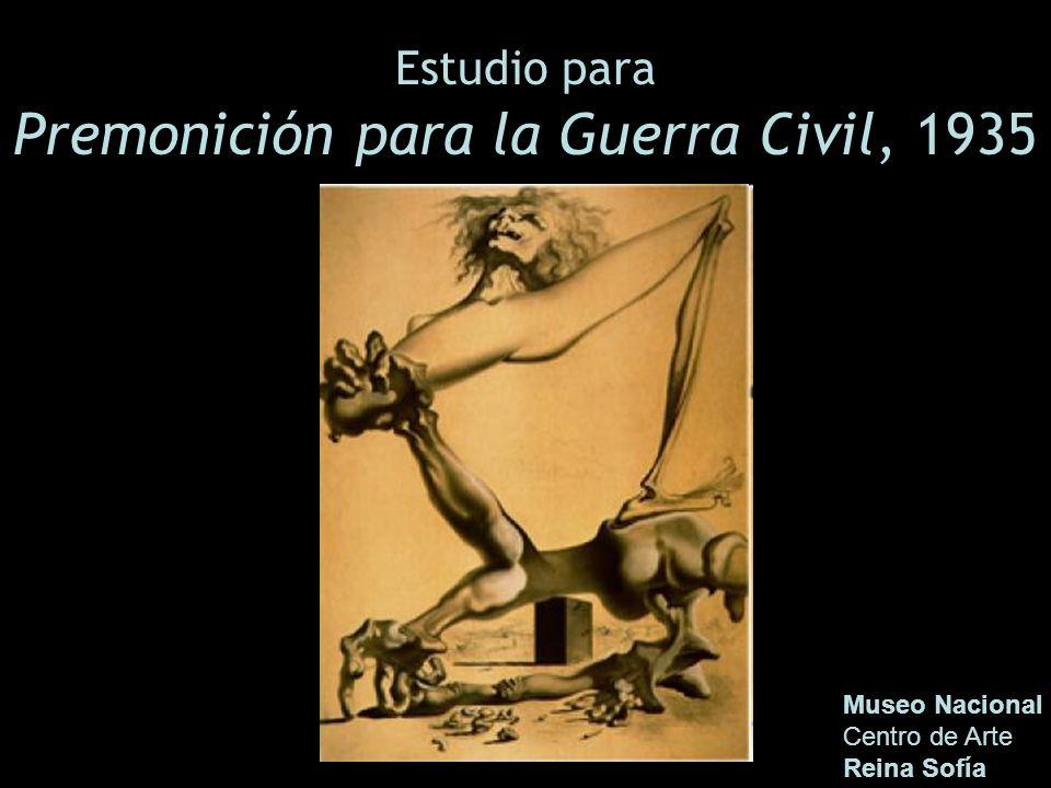 Estudio para Premonición para la Guerra Civil, 1935