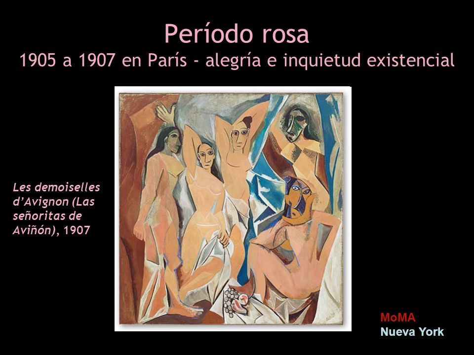 Período rosa 1905 a 1907 en París - alegría e inquietud existencial