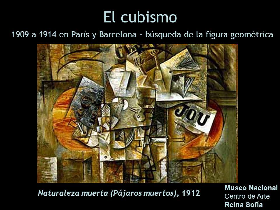 El cubismo 1909 a 1914 en París y Barcelona - búsqueda de la figura geométrica