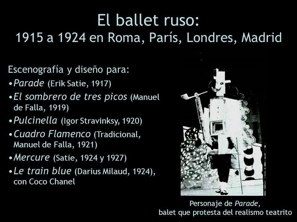 El ballet ruso: 1915 a 1924 en Roma, París, Londres, Madrid