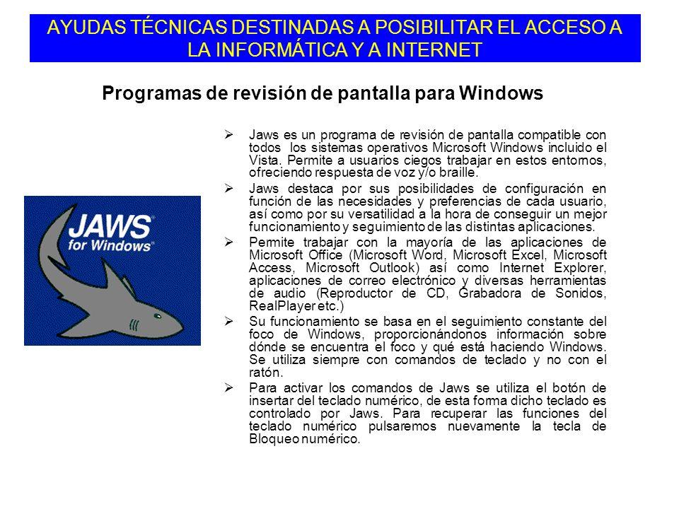 Programas de revisión de pantalla para Windows