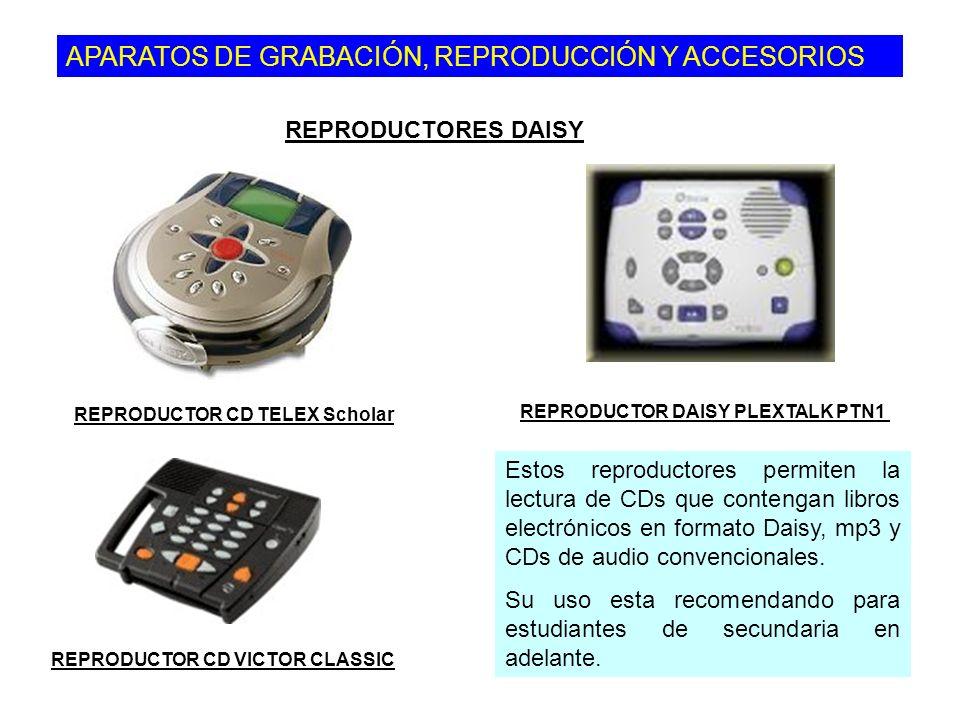 APARATOS DE GRABACIÓN, REPRODUCCIÓN Y ACCESORIOS