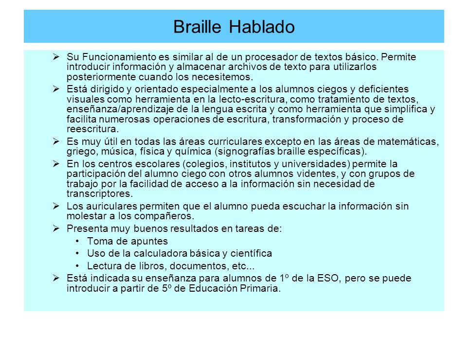 Braille Hablado