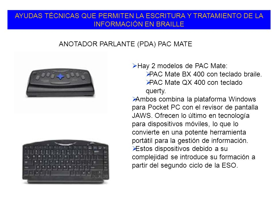 ANOTADOR PARLANTE (PDA) PAC MATE