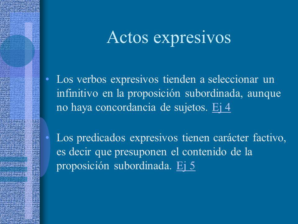 Actos expresivos