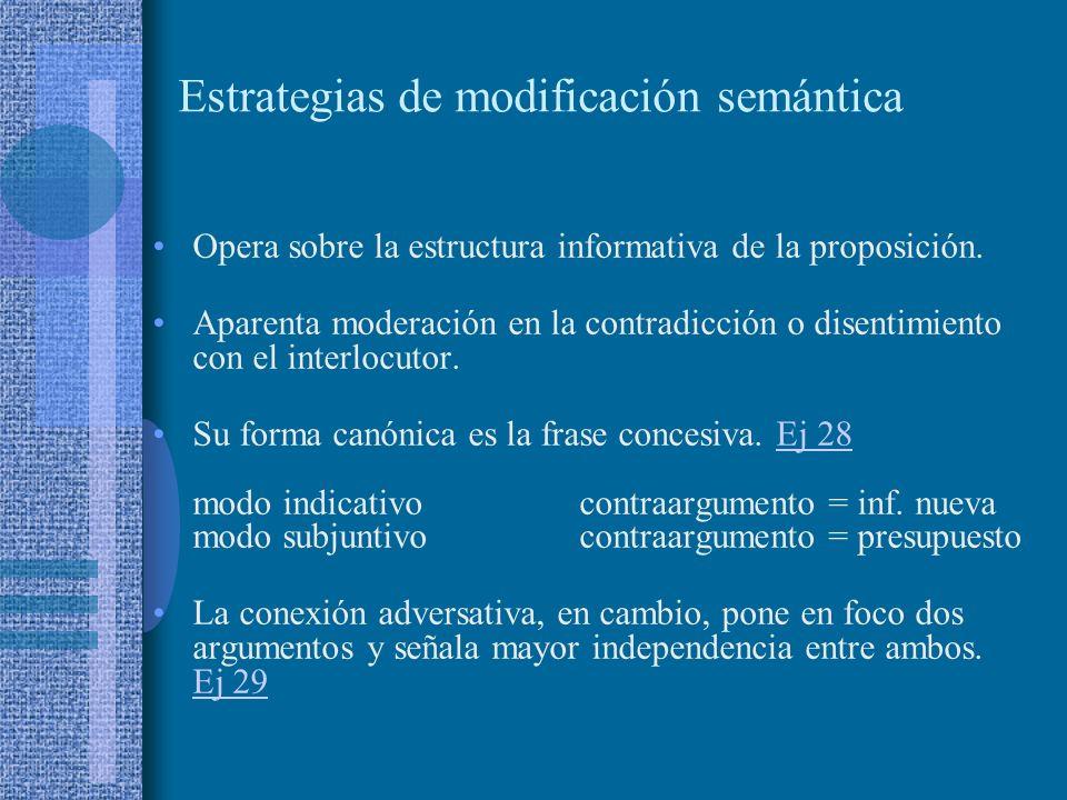 Estrategias de modificación semántica