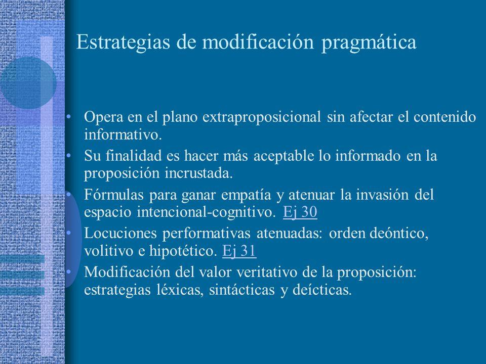 Estrategias de modificación pragmática