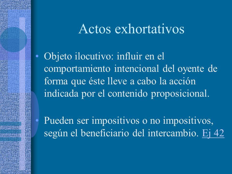 Actos exhortativos