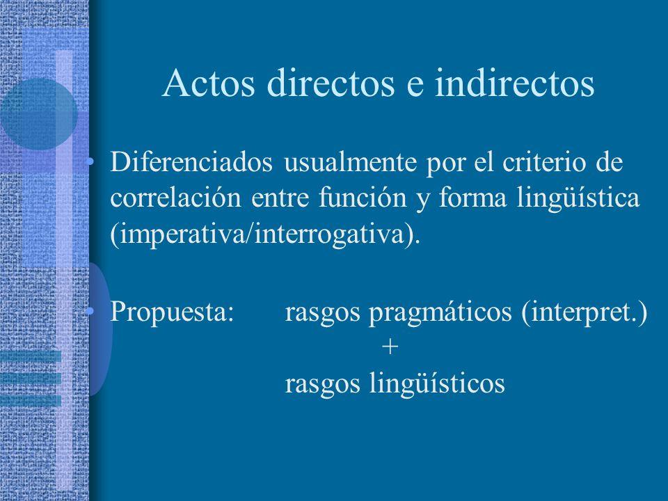 Actos directos e indirectos