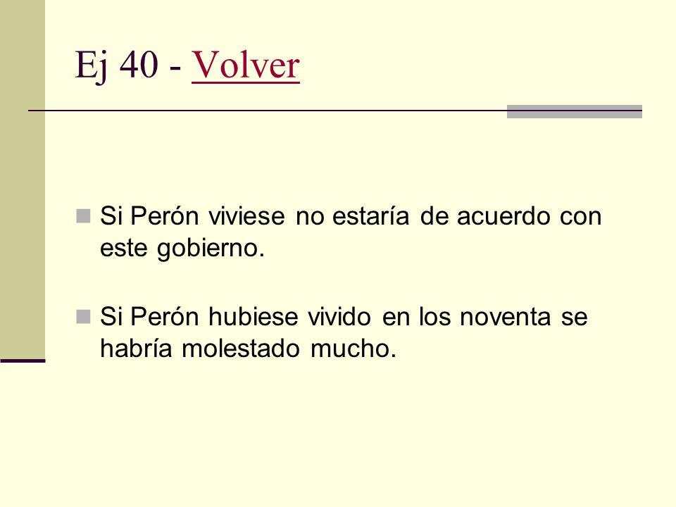 Ej 40 - Volver Si Perón viviese no estaría de acuerdo con este gobierno.