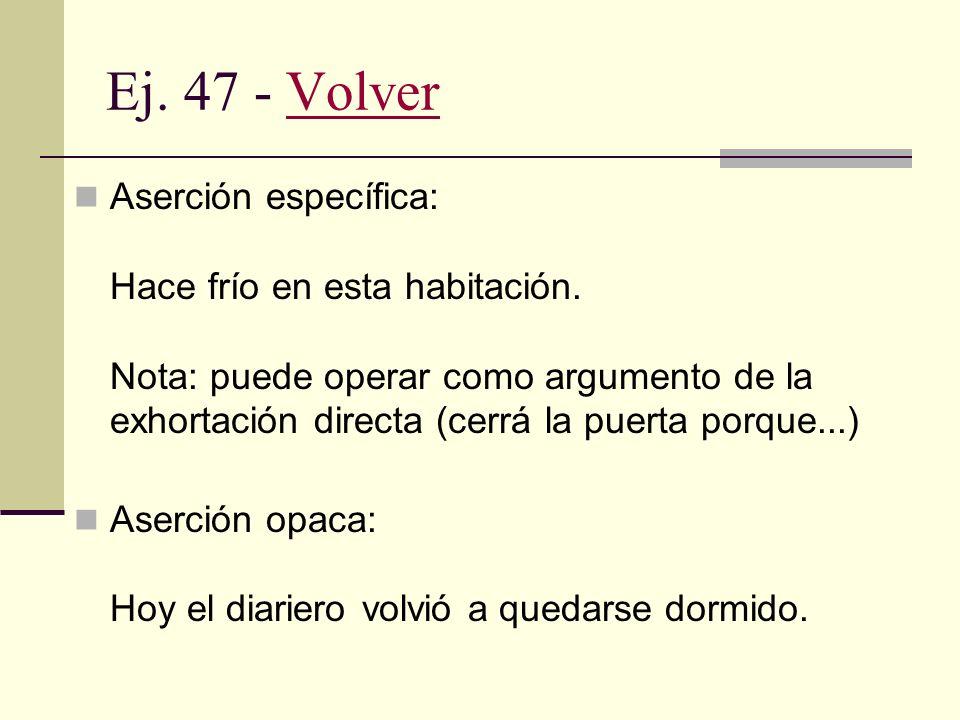 Ej. 47 - Volver