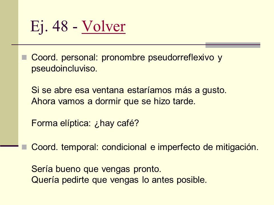Ej. 48 - Volver