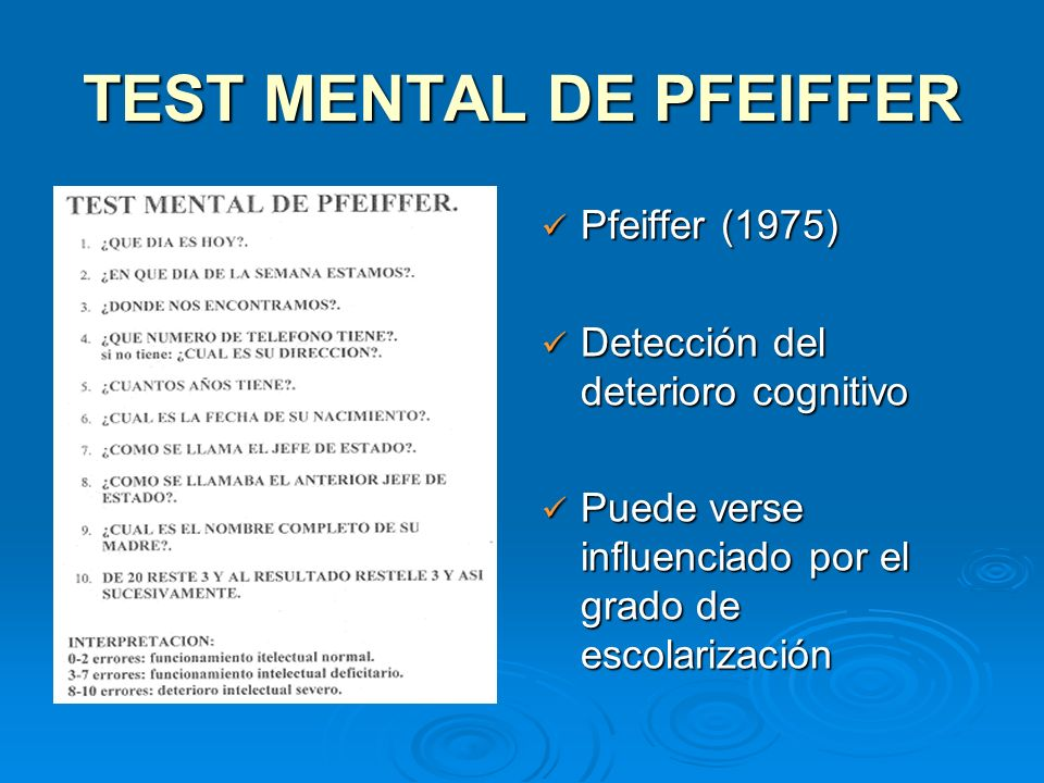 TEST MENTAL DE PFEIFFER