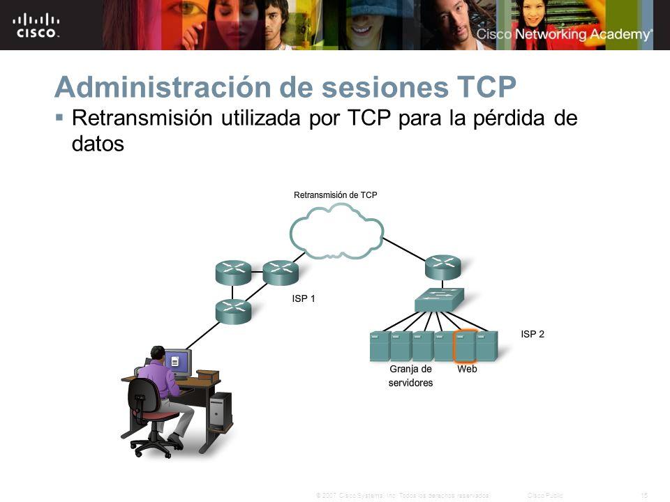 Administración de sesiones TCP