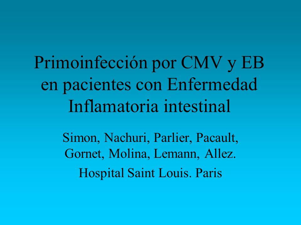 Primoinfección por CMV y EB en pacientes con Enfermedad Inflamatoria intestinal