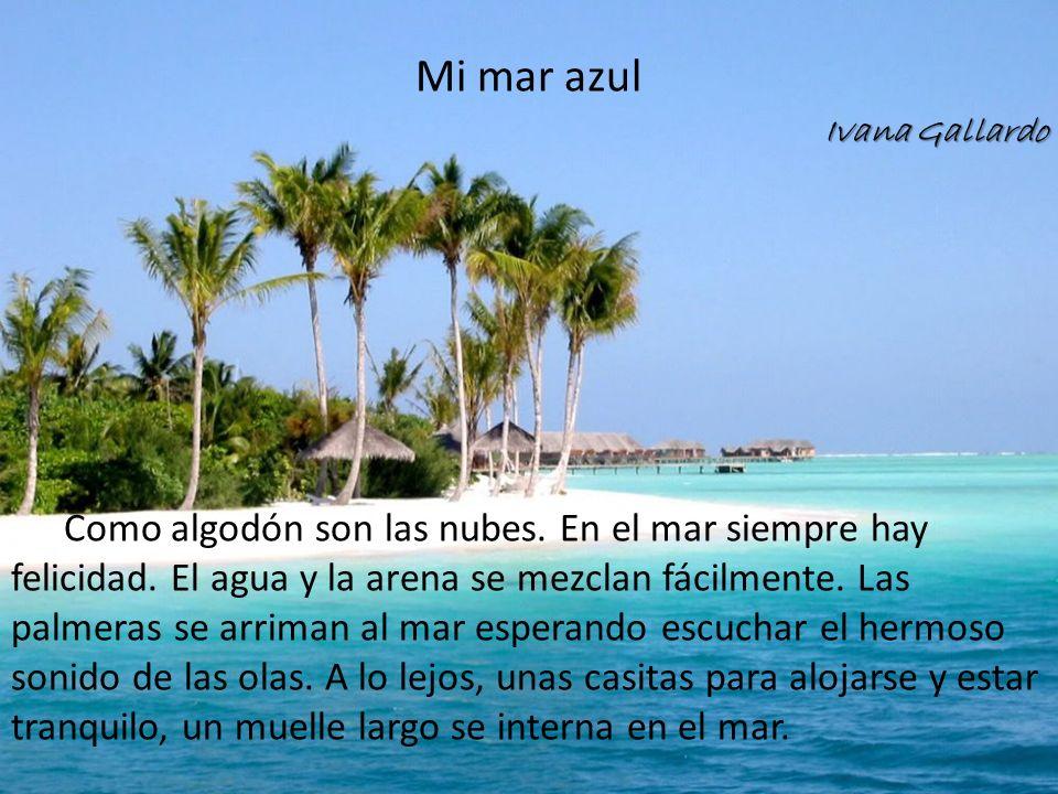Mi mar azul Ivana Gallardo.