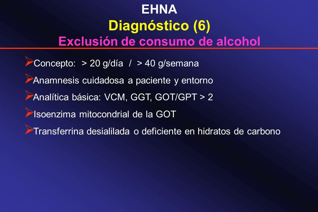 Exclusión de consumo de alcohol