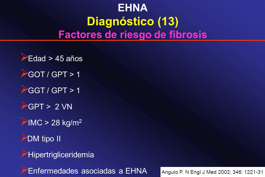 Factores de riesgo de fibrosis