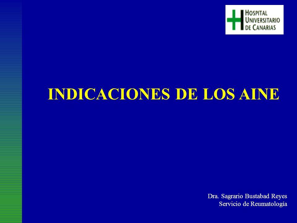 INDICACIONES DE LOS AINE