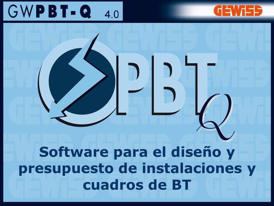 Software para el diseño y presupuesto de instalaciones y cuadros de BT