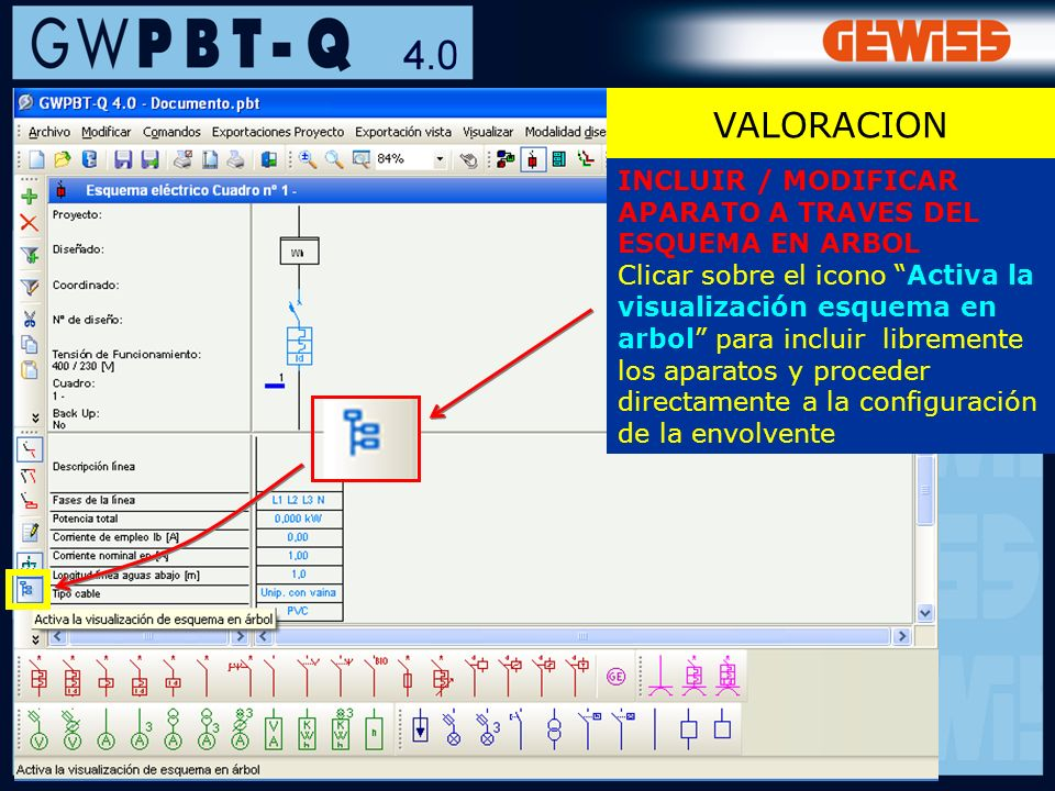 VALORACION INCLUIR / MODIFICAR APARATO A TRAVES DEL ESQUEMA EN ARBOL