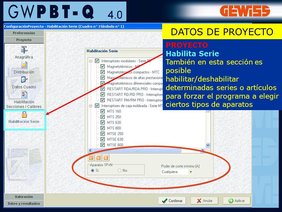 DATOS DE PROYECTO PROYECTO Habilita Serie