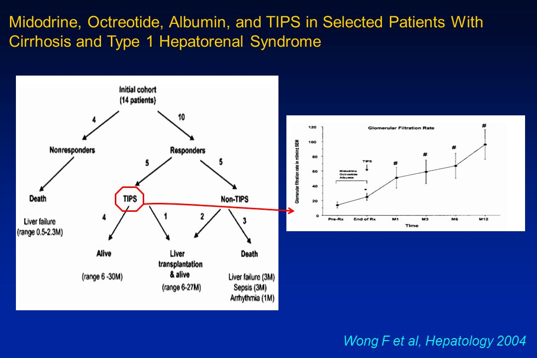 Midodrine, Octreotide, Albumin, and TIPS in Selected Patients With