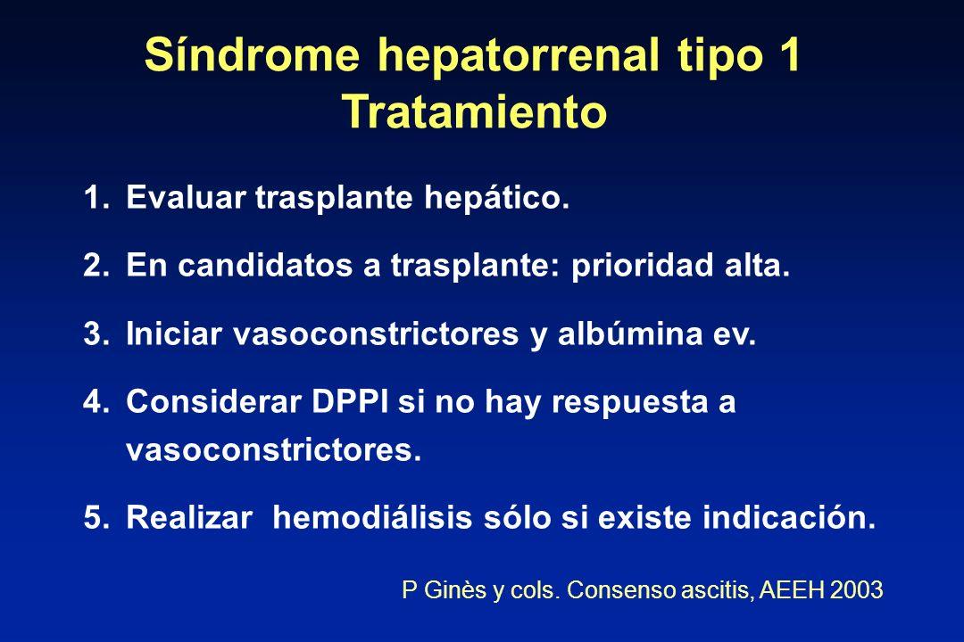 Síndrome hepatorrenal tipo 1