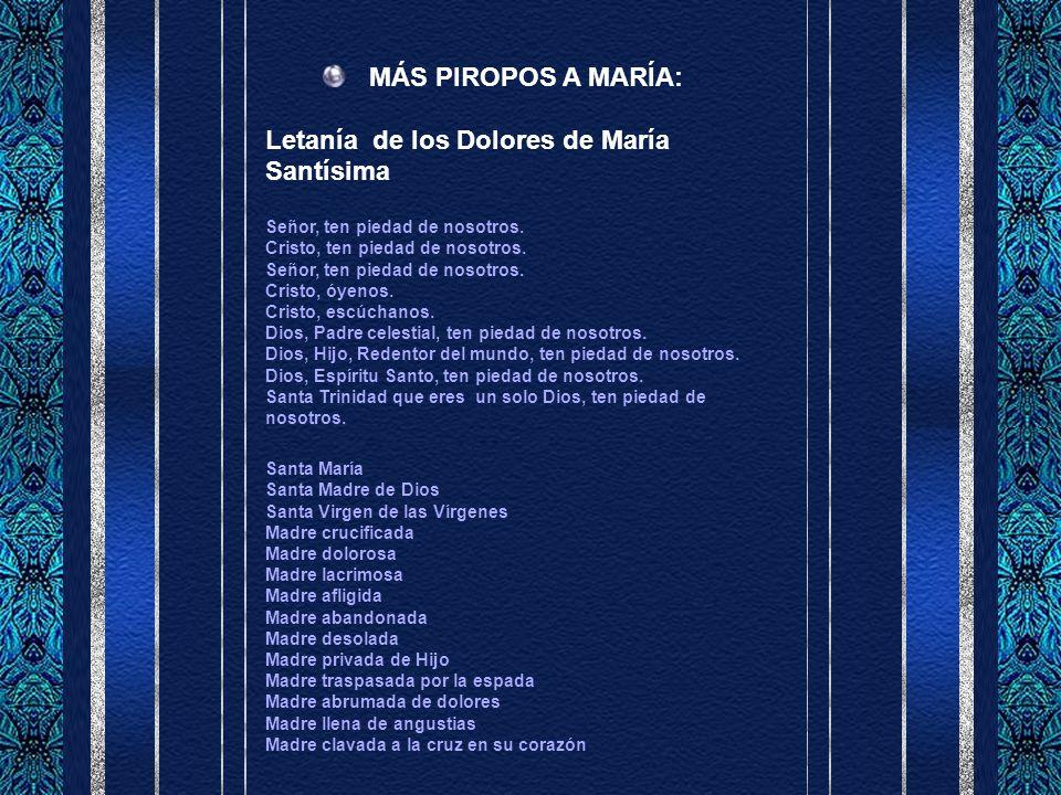 Letanía de los Dolores de María Santísima