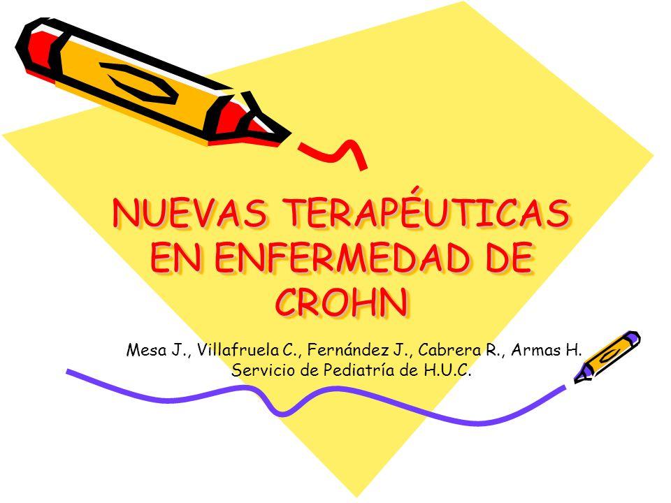 NUEVAS TERAPÉUTICAS EN ENFERMEDAD DE CROHN