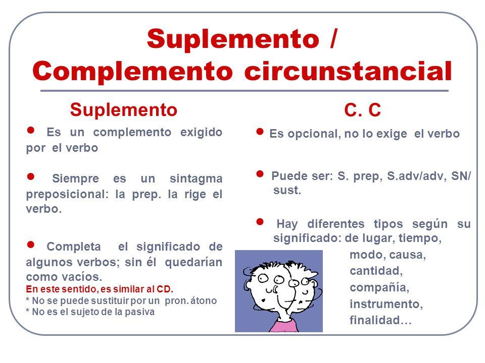 Suplemento / Complemento circunstancial