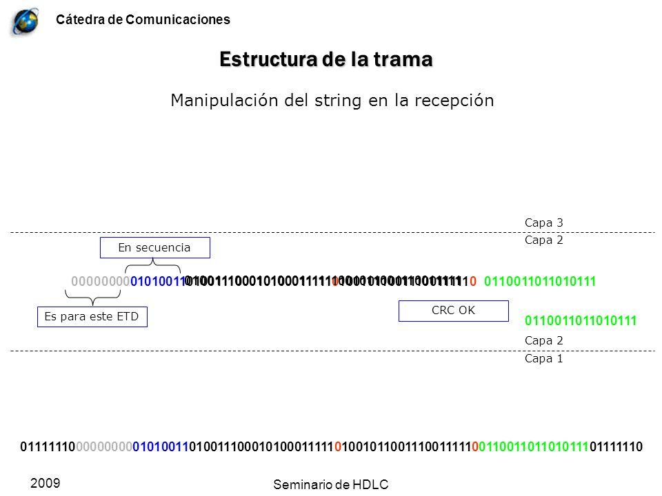 Manipulación del string en la recepción