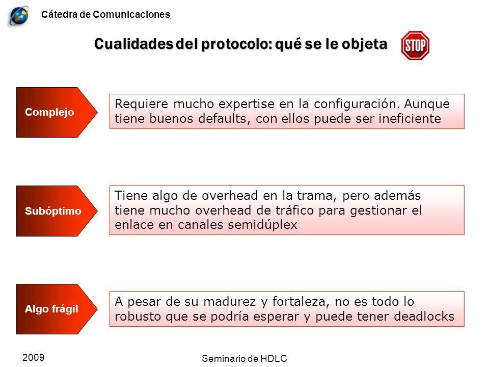 Cualidades del protocolo: qué se le objeta
