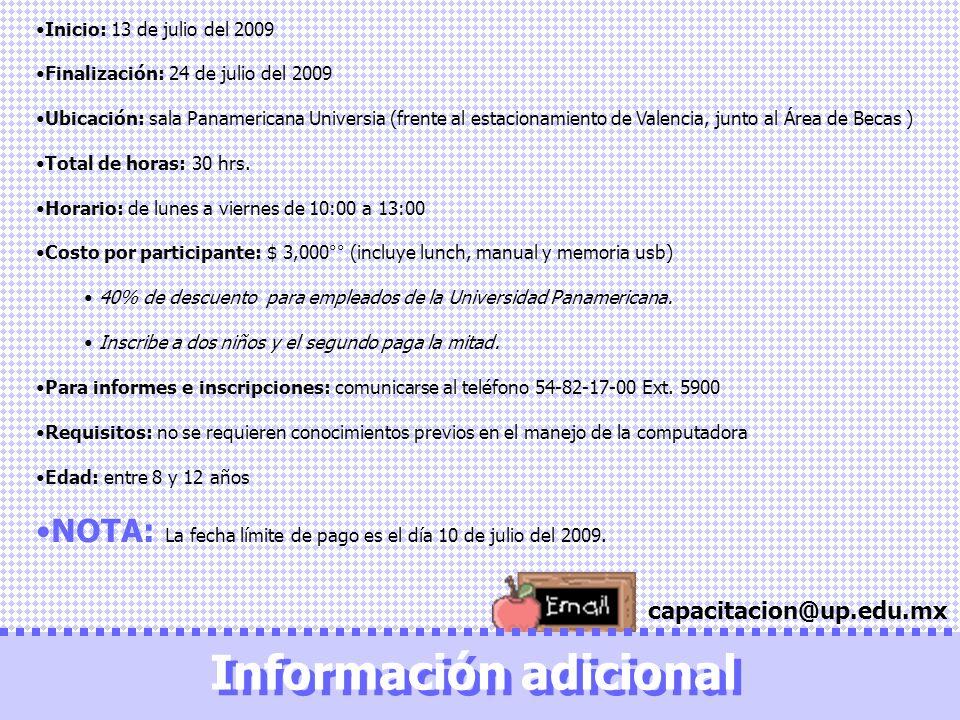 Información adicional Información adicional