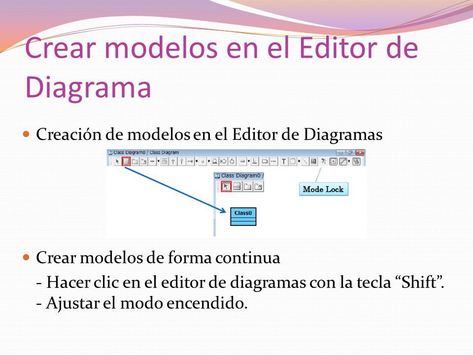 Crear modelos en el Editor de Diagrama