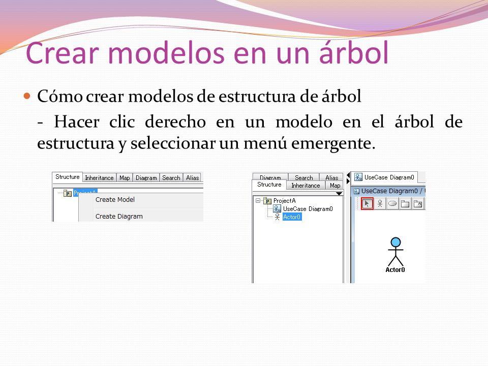 Crear modelos en un árbol