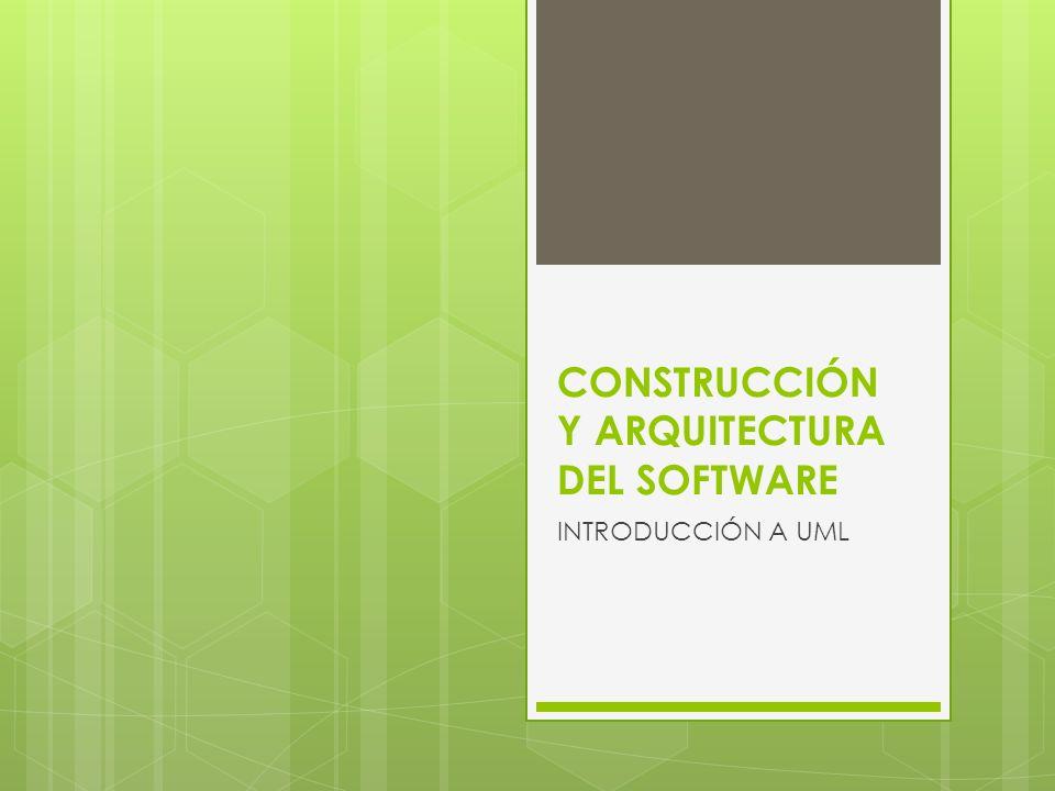 CONSTRUCCIÓN Y ARQUITECTURA DEL SOFTWARE