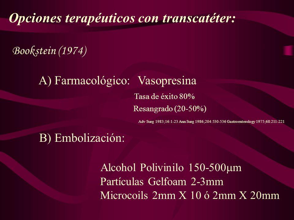 Opciones terapéuticos con transcatéter: