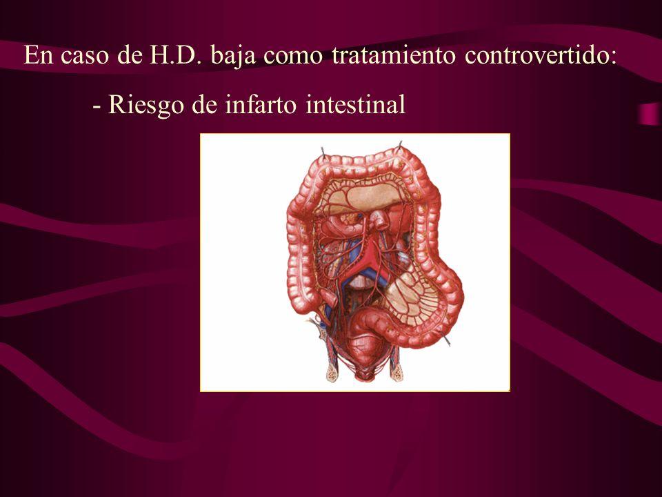 En caso de H.D. baja como tratamiento controvertido: