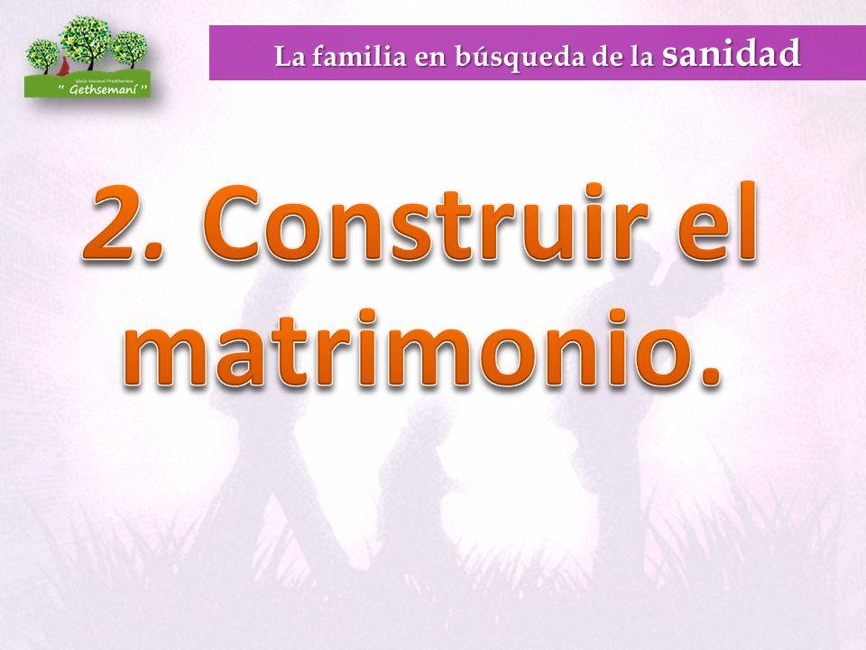 La familia en búsqueda de la sanidad 2. Construir el matrimonio.