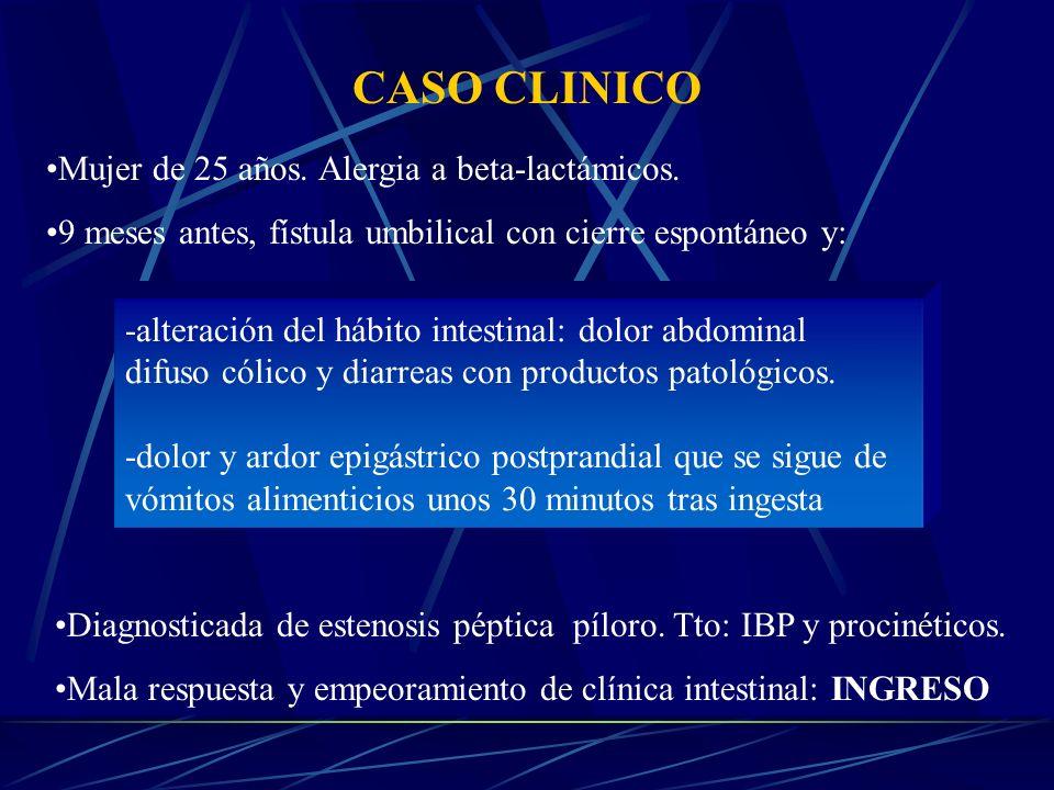 CASO CLINICO Mujer de 25 años. Alergia a beta-lactámicos.