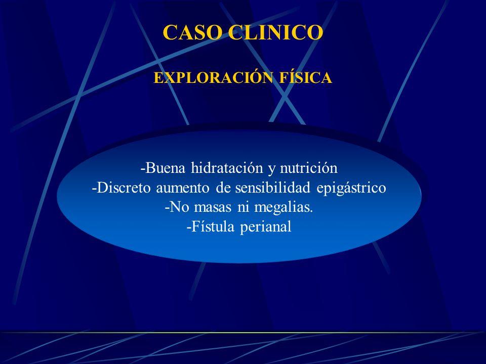 CASO CLINICO EXPLORACIÓN FÍSICA -Buena hidratación y nutrición
